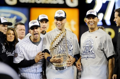 El última título de Rivera, 2009, junto a Pettitte, Posada y Jeter. ||| Foto tomada de nydailynews.com