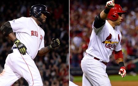 David Ortiz de Red Sox y Carlos Beltrán de Cardinals, dos peloteros peligrosos en postemporada. ||| Foto tomada de cbssports.com/