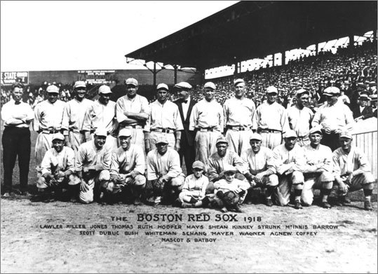 El equipo de Red Sox de 1918. ||| Foto tomada de boston.com