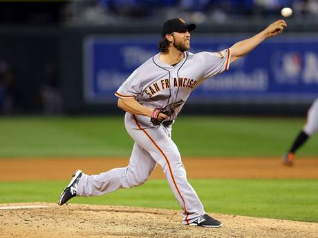 El brazo que más arrolló en la Serie Mundial, el de Madison Bumgarner de Giants. ||| Foto tomada de independent.co.uk