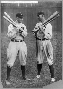 Ty Cobb y Joe 'Shoeless' Jackson en 1913