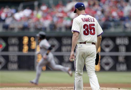 Hamels sigue sin encontrar consistencia/// foto tomada de philliesnetwork.com