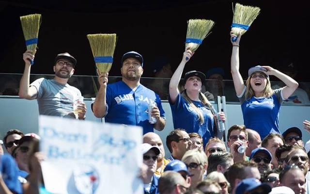 Los hinchas de los Blue Jays no ven perder a su equipo desde el 1 de agosto. /// Foto tomada de globalnews.ca