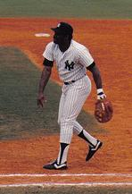 Don Baylor en su etapa con los New York Yankees./// Wikipedia