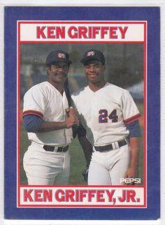 Ken Griffey Sr y Ken Griffey Jr. /// Pinterest