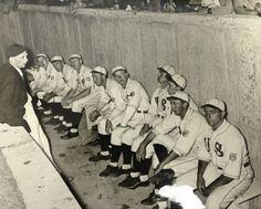 Seleccionado de los Estados Unidos durante el juego de exhibición en los Jugos Olímpicos de Berlin 1936