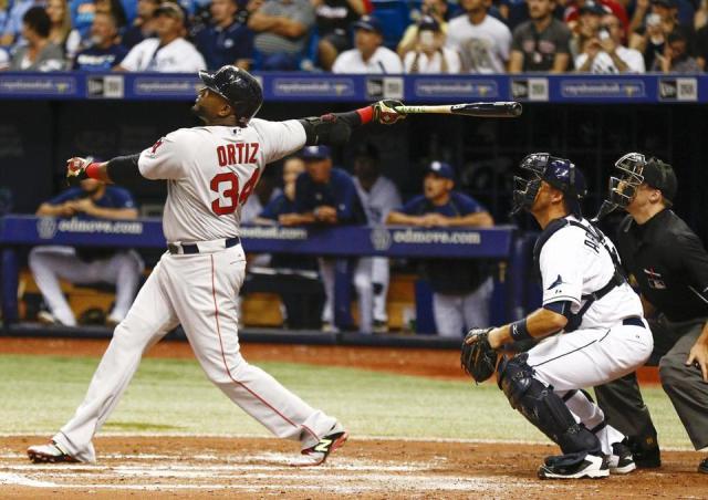 David Ortiz bateó historia. /// Foto tomada de bostonglobe.com