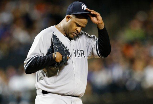 CC Sabathia (Yankees), que entró a tratamiento por alcoholismo.