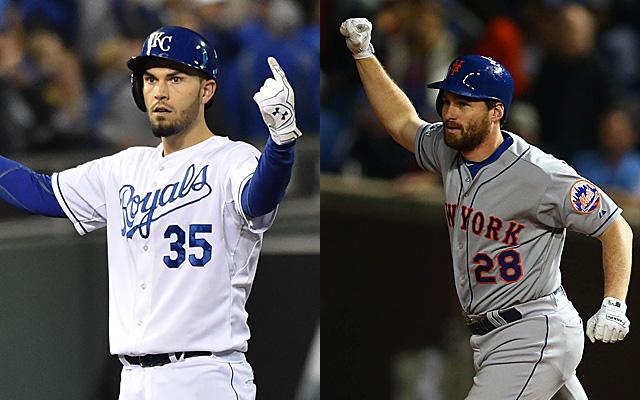 Eric Hosmer (Reales) y Daniel Murphy (Mets), dos bates destacados de cara a la Serie Mundial.